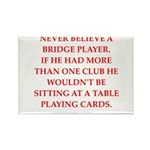 Duplicate bridge Rectangle Magnet