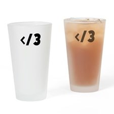 Cute Slash Drinking Glass