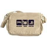 Sleep eat swim Messenger Bag