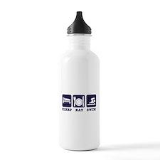 Sleep eat swim Water Bottle