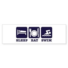 Sleep eat swim Bumper Sticker