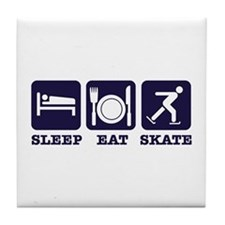 Sleep eat ice skate Tile Coaster