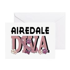Airedale DIVA Greeting Cards (Pk of 10)
