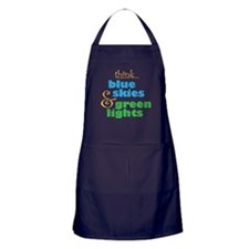 Think Blue Skies Skydiver Apron (dark)