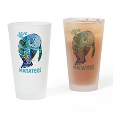Save The Manatees 2 Drinking Glass