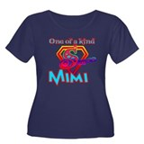 S MIMI Women's Plus Size Scoop Neck Dark T-Shirt