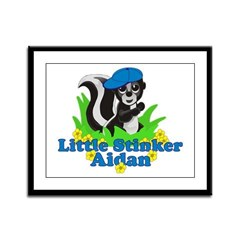 Little Stinker Aidan Framed Panel Print