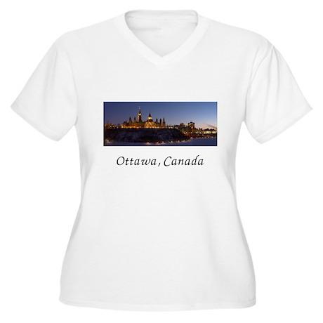 Ottawa Skyline Women's Plus Size V-Neck T-Shirt