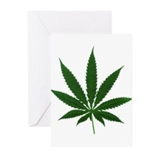 Simple Marijuana Leaf Greeting Cards (Pk of 10