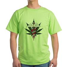 Medical Marijuana Caduceus T-Shirt