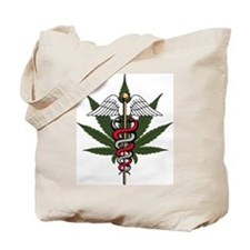 Medical Marijuana Caduceus Tote Bag