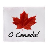 O Canada Throw Blanket