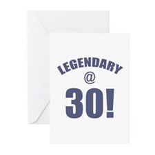 Legendary At 30 Greeting Cards (Pk of 10)
