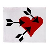 Love 'n Hearts Throw Blanket