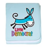 Little Democrat baby blanket
