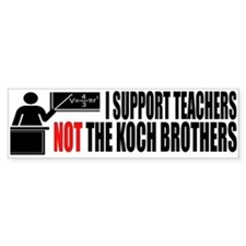 I SUPPORT TEACHERS Bumper Sticker