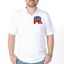 Republican Logo -Faded Golf Shirt