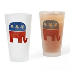 Republican Logo -Faded Drinking Glass
