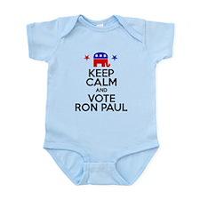 Keep Calm Vote Ron Paul Infant Bodysuit