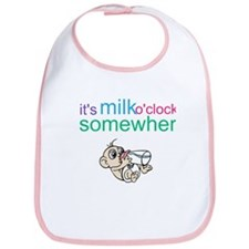 It's Milk O'clock Somewhere Bib