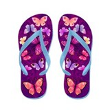 Swirls&amp;amp;Butterflies Purple Flip Flops