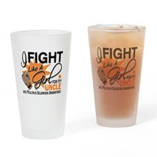 Fight Like A Girl For My MS Drinking Glass
