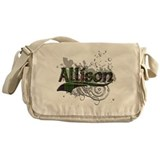 Allison Tartan Grunge Messenger Bag