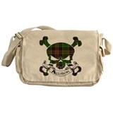 Allison Tartan Skull Messenger Bag