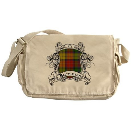 Buchanan Tartan Shield Messenger Bag