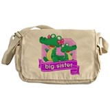 Big Sister Alligator Messenger Bag