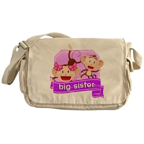 Big Sister Monkey Messenger Bag