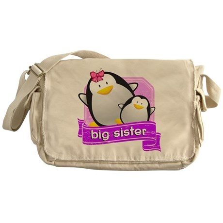 Big Sister Penguin Messenger Bag