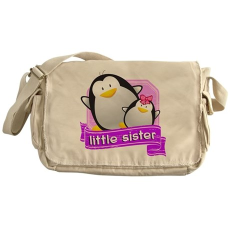 Little Sister Penguin Messenger Bag