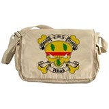 Allan Family Crest Skull Messenger Bag
