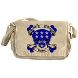 Bailey Family Crest Skull Messenger Bag