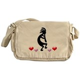 Kokopelli Hearts Messenger Bag