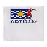 West Indies Cricket Player Throw Blanket