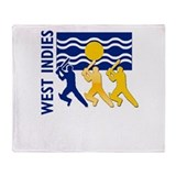West Indies Cricket Throw Blanket