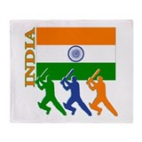 India Cricket Throw Blanket