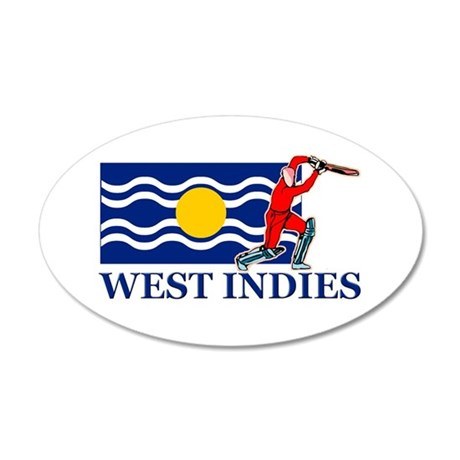 West Indies Cricket Player 35x21 Oval Wall Decal