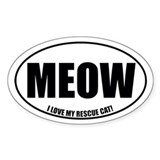 Rescue Cat Oval Decal