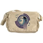 Bass Clef Deco2 Messenger Bag