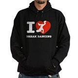 I love Break dance Hoodie