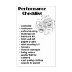 Performance Checklist Mini Poster Print