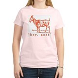 Hey, Goat Women's Pink T-Shirt