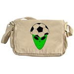 ALIEN SOCCER HEAD Messenger Bag