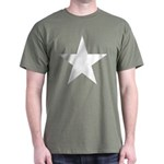 White 5-Pointed Star Dark T-Shirt