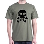 Pirate Skull with Crossbones Dark T-Shirt
