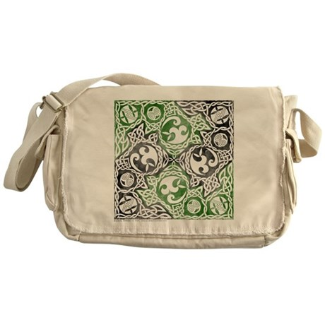 Celtic Puzzle Square Messenger Bag