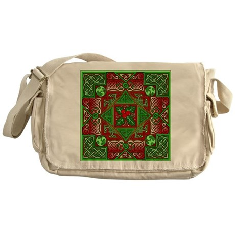 Celtic Labyrinth Holly Messenger Bag